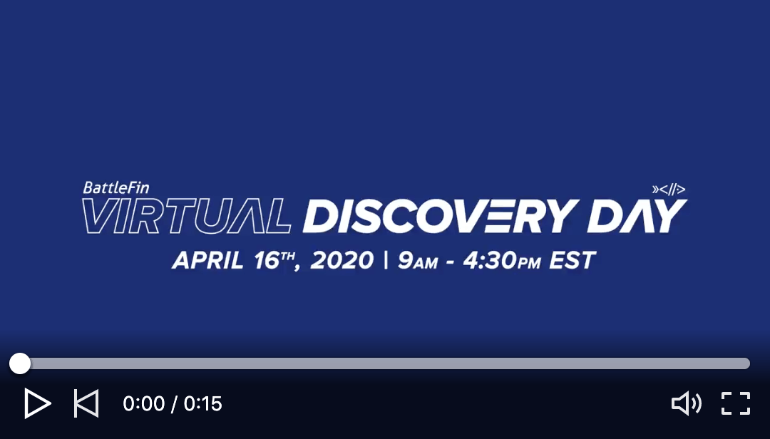 Virtual Discovery Day 2020