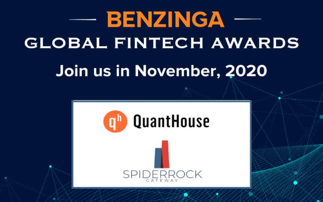 "SpiderRock nominated for ""Best New Product"" at 2020 Benzinga Global Fintech Awards"
