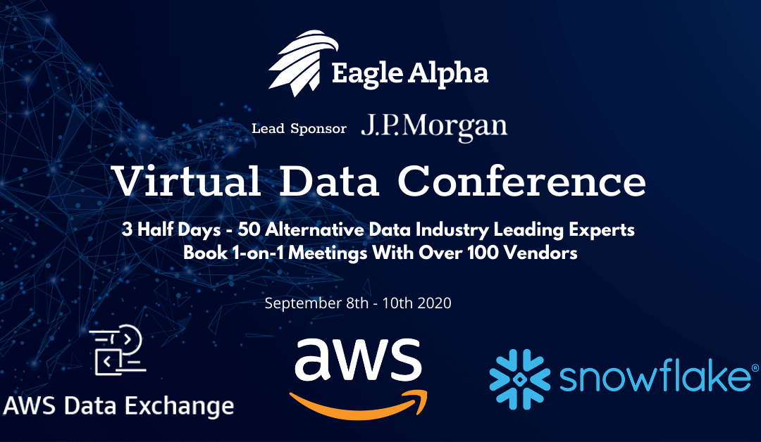 Meet our Data & Analytics Team at the Eagle Alpha Virtual Data Conference, September 8-10