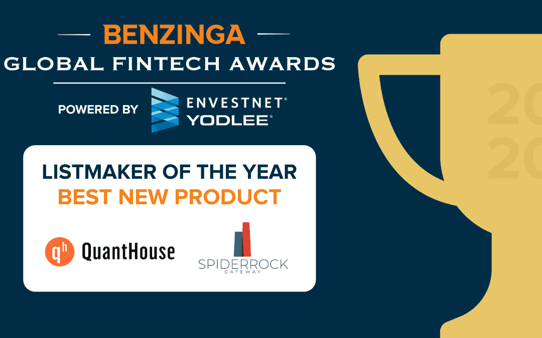 "SpiderRock chosen as 2020 Benzinga Listmaker of the year for ""Best New Product"""